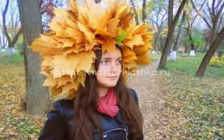 Осенние венки на голову: мастер класс из природного материала