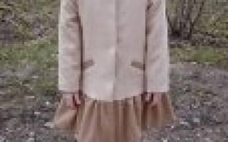 Выкройка пальто для девочки: построение и схемы, пошаговая инструкция