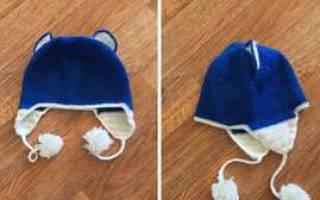 Детская шапка крючком: схема и описание шапки с ушками