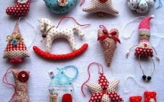 Игрушки из ткани своими руками: как делать детские и новогодние игрушки с выкройками