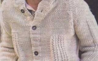 Вязание спицами для мужчин 2016: схемы модного мужского жакета и жаккарда
