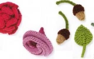 Вязаные цветы спицами с описанием, фото и видео