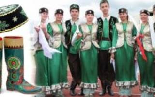 Татары национальный костюм: фото и основные черты