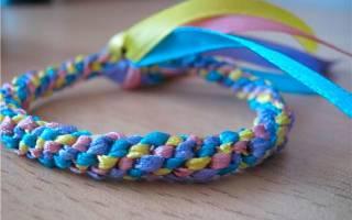 Браслеты из ленточек своими руками: схемы и инструкция какие браслеты можно сделать из ленточек