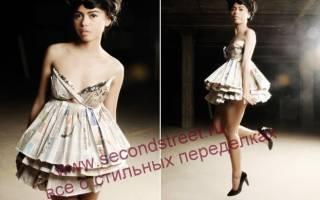 Как сделать платье из бумаги: своими руками, из газет, инструкции