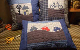 Лоскутная техника для начинающих: схемы для подушки