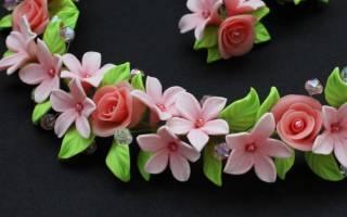 Цветы из полимерной глины: мастер класс своими руками с фото