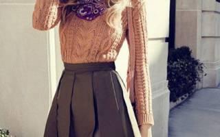 Как заправить свитер в юбку: модные правила и тенденции
