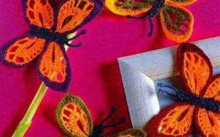 Бабочка крючком: видео-уроки с пошаговым фото для начинающих
