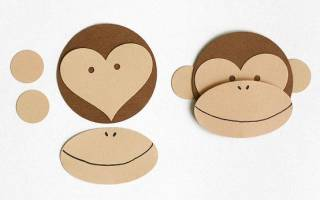 Мордочка обезьянки своими руками: шаблон и выкройка прилагаются