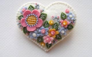 Аппликации из фетра с выкройками: цветы-выкройки и шаблоны своими руками