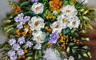 Вышивка лентами на одежде: мастер класс, схемы и узоры